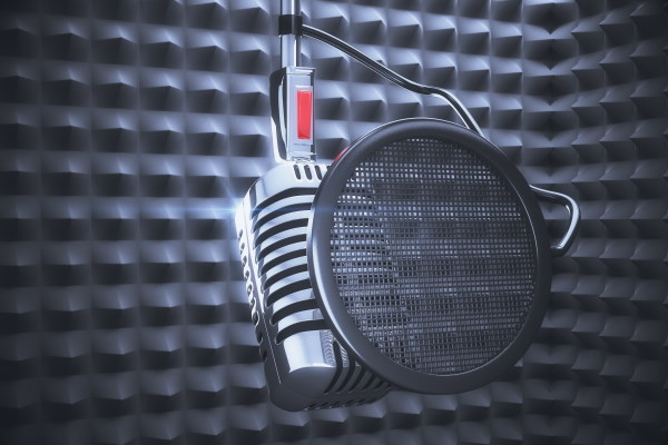 mic in a soundproof room