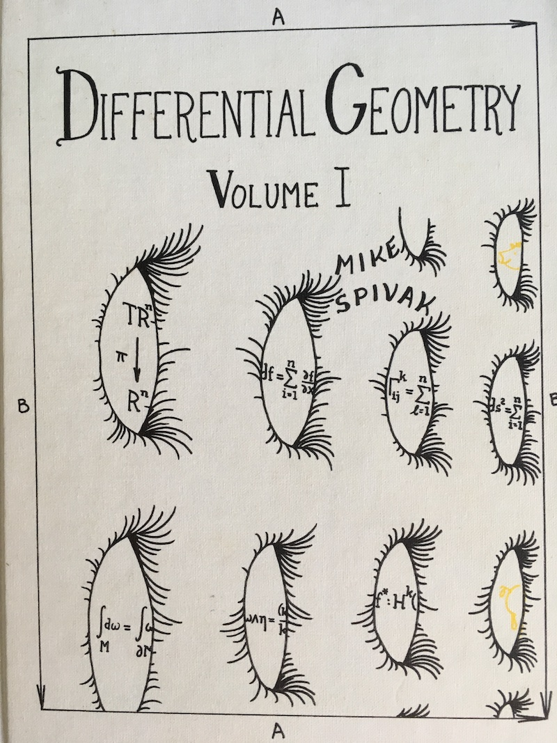 Cover of Spivak's Differential Geometry, Volume 1, second edition