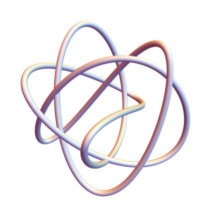 Lissajous knot plotted in Mathematica with Tube function