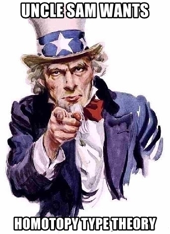 Uncle Sam wants homotopy type theory