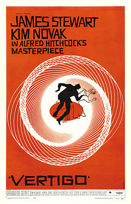 Poster from Hitchcock's Vertigo