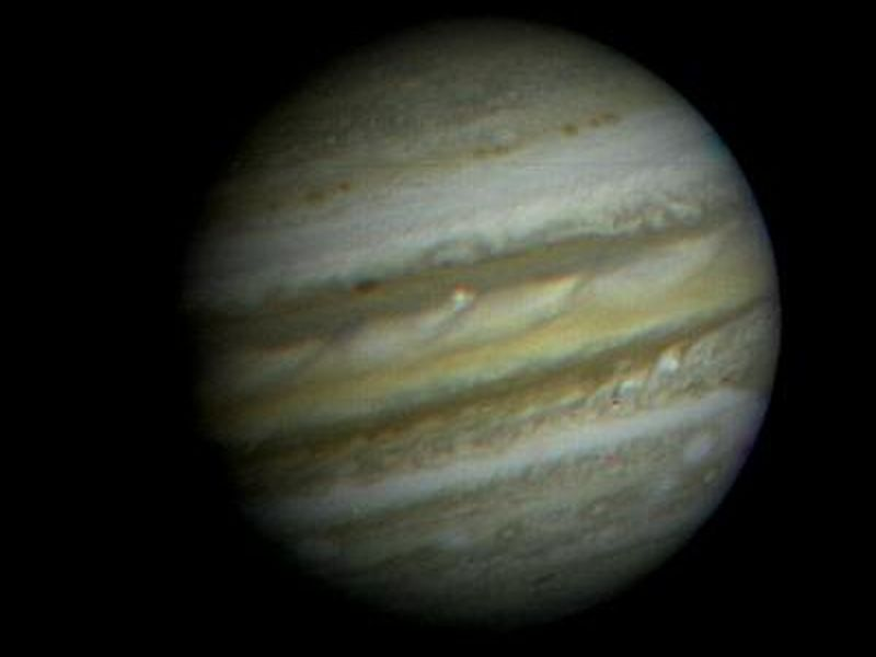 Voyager 1 photo of Jupiter. Jan. 6, 1979