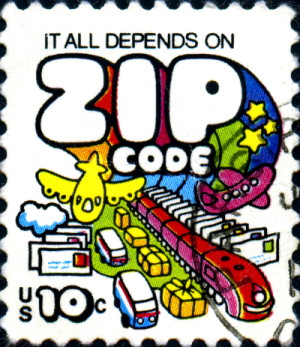 US stamp from 1973 promoting zip codes
